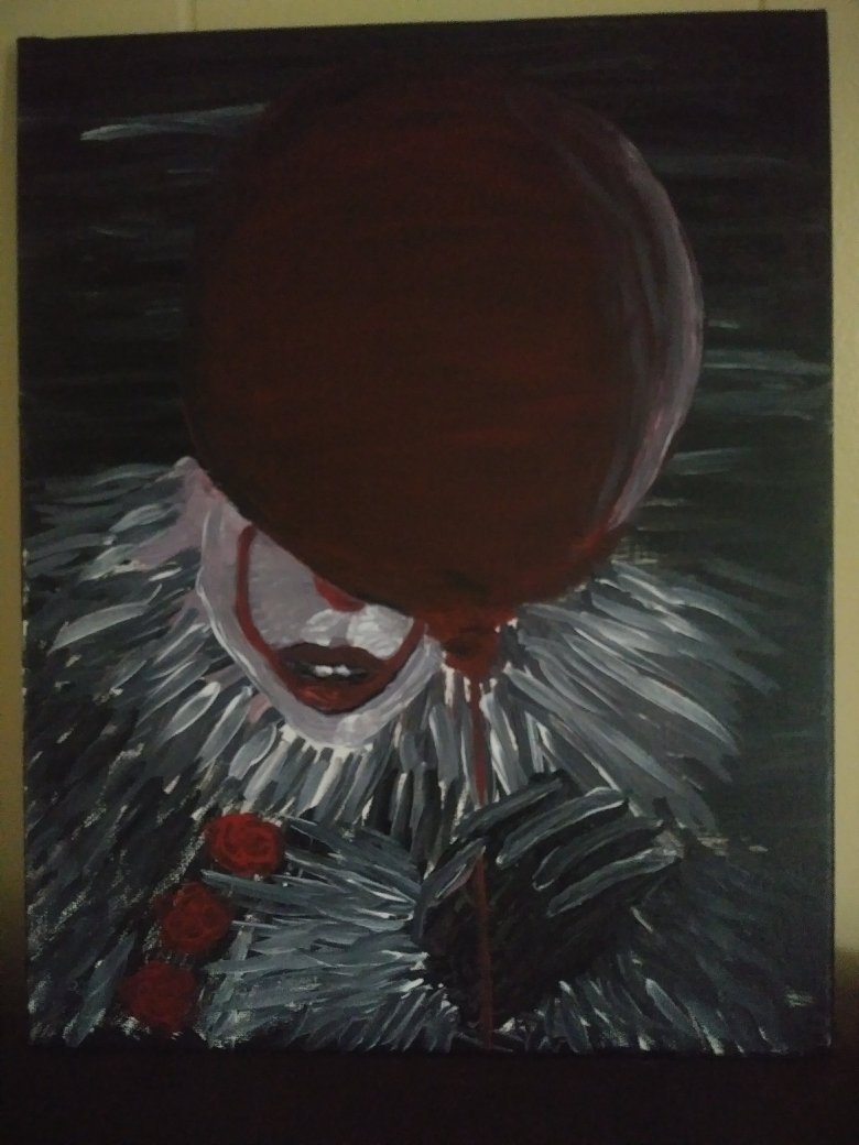 Pennywise with Balloon on canvas