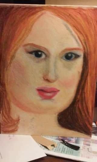 Sarah oil pastel
